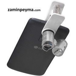 میکروسکوپ مخصوص موبایل ۶۰ برابر دارای لامپ ال ای دی